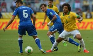 Imagen del último Brasil-Italia.