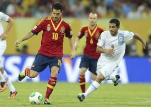 Imagen del último España-Uruguay.