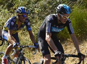 Alberto Contador y Chris Froome