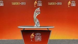 Trofeo de campeón de la Eurocopa femenina. FOTO:abc.es