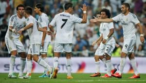Varios jugadores del Real Madrid.