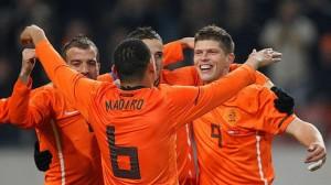 La selección de Holanda está casi clasificada para el Mundial.