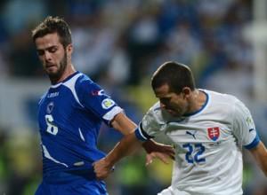 El bosnio Pjanic, a la izquierda.