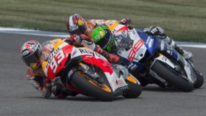 Márquez se disputó el título con Lorenzo y Pedrosa.
