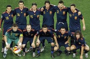 Alineación de España en la final del Mundial 2010.