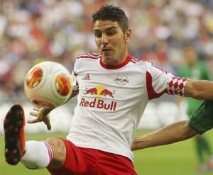 El español Jonathan Soriano, delantero del Salzburgo. FOTO: AFP
