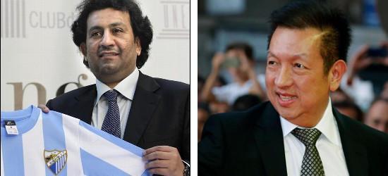 Al-Thani (Málaga) y Peter Lim (Valencia), dos de los extranjeros que controlan clubes españoles