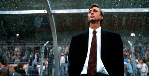 Imagen de Cruyff en su etapa como entrenador.