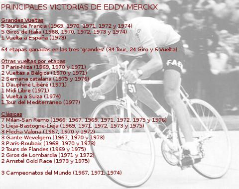 Palmarés de Eddy Merckx
