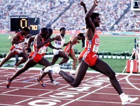 Final de los 100m de los JJ.OO de Los Ángeles 1984.
