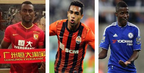 Jackson Mtnez, Álex Teixeira y Ramires, los tres fichajes más caros de la Superliga.