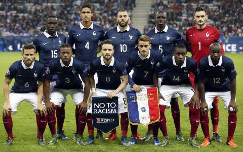 Imagen reciente de la selección francesa.