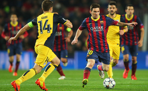 Imagen del Barcelona-Atlético de la Champions 13/14.