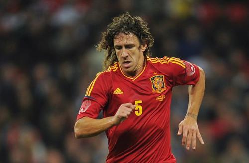Puyol, con la selección española.
