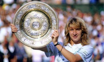 Steffi Graf ganó 22 torneos del Gran Slam. En la imagen, Wimbledon.