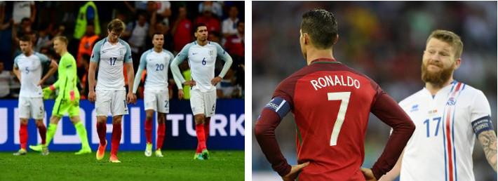 Inglaterra (izquierda) y Portugal (derecha), fallaron en su estreno.