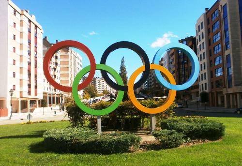 Los aros olímpicos, simbolo por excelencia de los JJ.OO