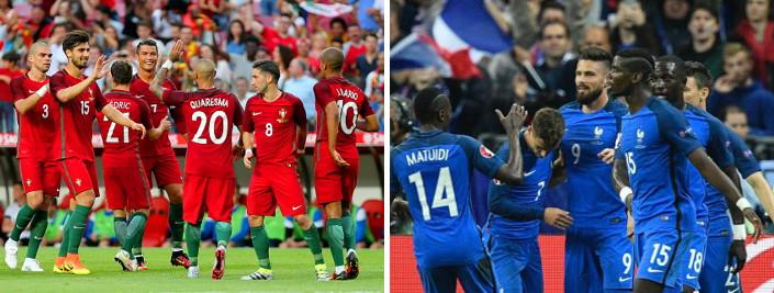 Eurocopa 2016: todo al rojo (portugués) o azul (francés)