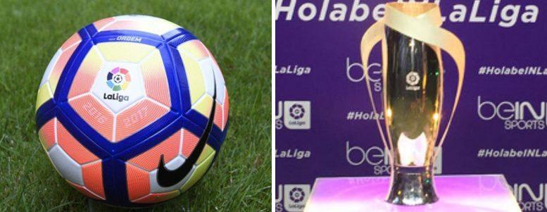 El nuevo balón de la Liga y la nueva copa que se dará al campeón