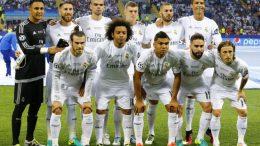 El once inicial del Real Madrid en la pasada final de la Liga de Campeones.