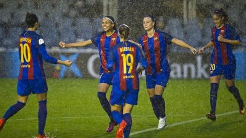 El FC Barcelona femenino ha alcanzado dos veces los cuartos de final.