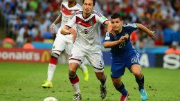 Momento de la final de la Copa del Mundo de Brasil 2014 entre Alemania y Argentina.