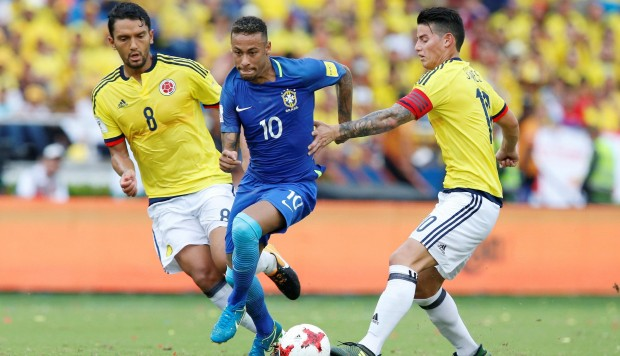 Colombia contra Brasil