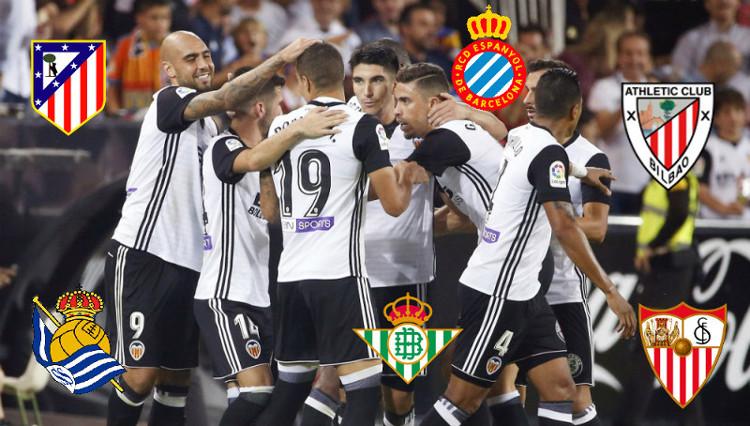 Los equipos a los que más veces ha ganado el Valencia CF