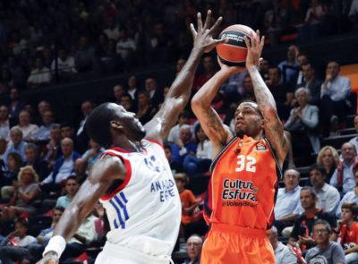 Erick Green, máximo anotador del Valencia Basket en la Euroliga.