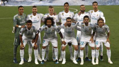 Once inicial del Real Madrid en la final de la Champions League de 2018.