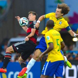 Imagen de la semifinal de Brasil 2014 que enfrentó a Brasil y Alemania.