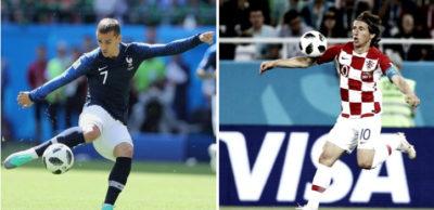 Griezmann y Modric, las estrellas de Francia y Croacia.