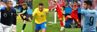 Mbappé, Modric, Neymar, Kane, Hazard y Luis Suárez