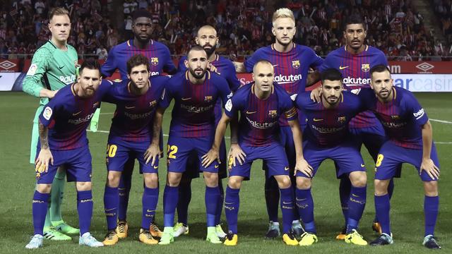 Once inicial del FC Barcelona en la temporada 2017/2018.