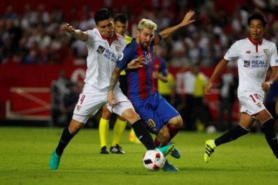 Barcelona y Sevilla se enfrentaron ya en las Supercopas de España de 2010 y 2016.