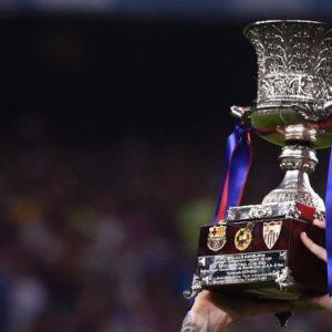 Imagen del trofeo de campeón de la Supercopa de España