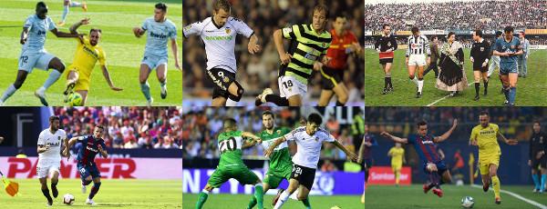 Imágenes de varios derbis valencianos en Primera División
